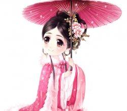 漂亮的汉服娃娃