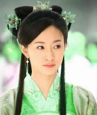 明星展示中国古代美女发型 影视