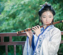 珍珠白沁就烟雨,孔雀蓝映著月光 青花瓷美女赏析。