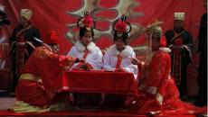 郑州海潮传媒举办汉服婚礼 推行传统文化