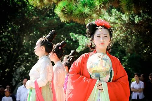 4月11日上海植物园牡丹园 周末穿汉服免费逛上海花展-图片1