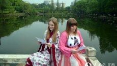 世界读书日 江西学子与留学生穿汉服读《诗经》