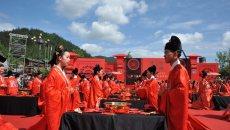 第二届酉阳桃花源大型传统汉服集体婚典成功举办