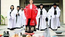 江苏工程学院学生举办汉服迎立夏仪式