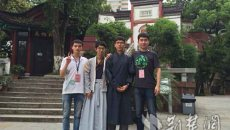 同是汉服爱好者 香港武汉两2名大学生着汉服游湖北