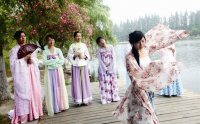 端午节襄城荟园20名网友穿汉服祭奠屈原