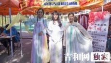 """东师上演""""百团大战"""" 美女着汉服学妹争相拍照"""