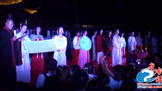 淮安举行汉服拜月祈福 20000名市民共同祈福