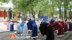 湖南科技学院学子着汉服纪念孔子诞辰2566周年