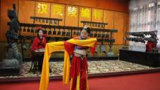"""欢度国庆 茂陵博物馆""""汉服编钟""""迎客"""