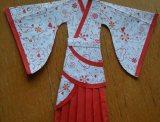 纸汉服曲裾的做法 DIY手工制作教程