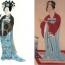 日本和服中的袴,也是两侧开叉,主要参考了它的腰带系结方式