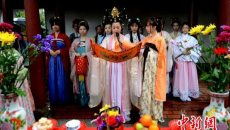 福州推崇传统文化 办花朝节祭花神祈福