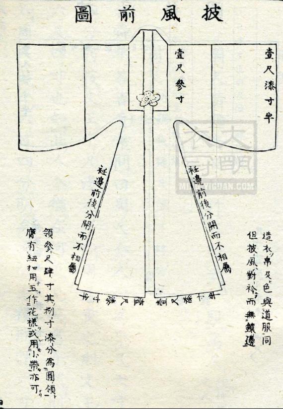 直袖汉服结构图