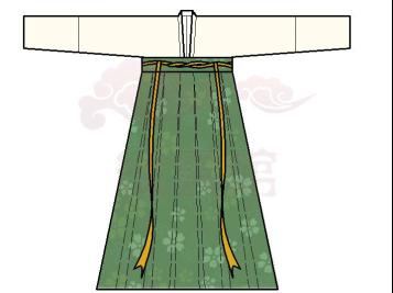 襦裙腰带的系法图解