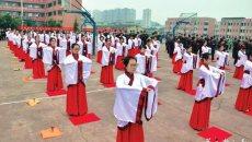 内江百名学子举行汉服成人礼 家长从外地赶回见证