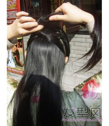 简单的古装发型梳法步骤图解