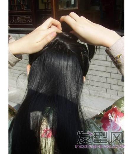 汉服古典发型盘发教程, 简单又实用