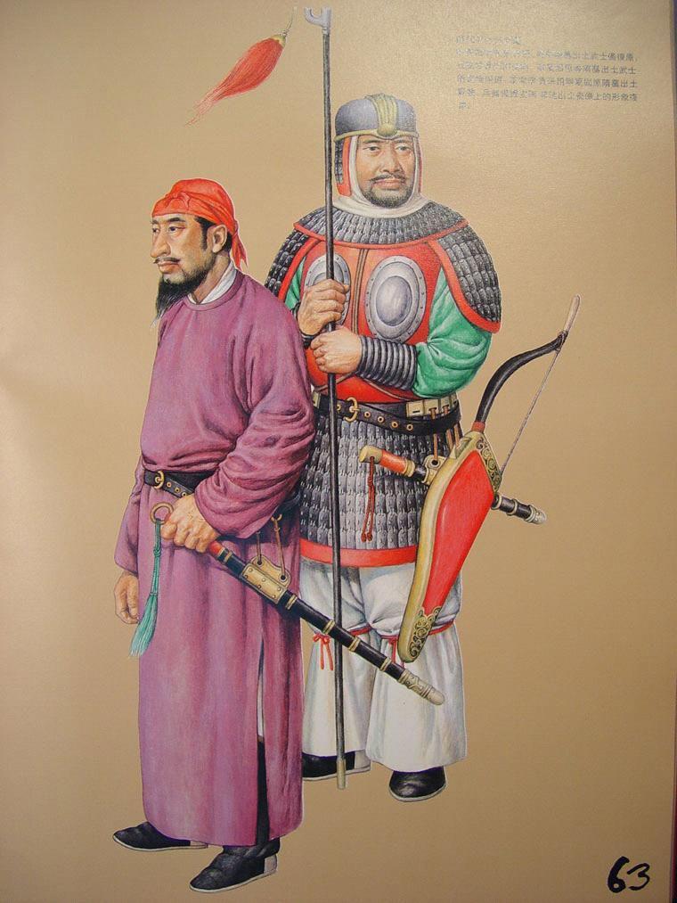 中国古代军戎服饰图片