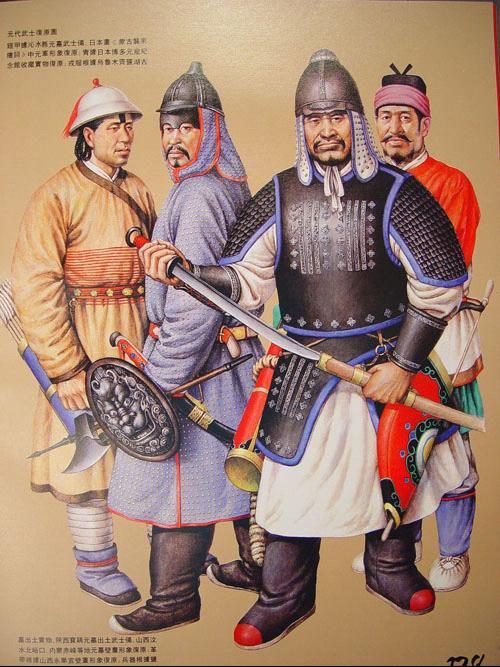 知识 简介 中国古代军戎服饰    1206年铁木真统一蒙古草原,建立了