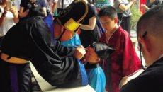 温州开发区举行开笔礼 学童穿汉服拜学童