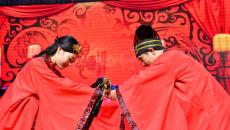 不一样的教师节:石家庄石门实验学校举办汉服集体婚礼