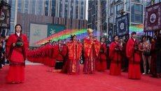 济南举行千年古典婚礼,汉服新娘美艳动人