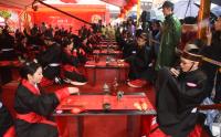 三河古镇成爱情圣地 66对新人举行集体汉服婚礼