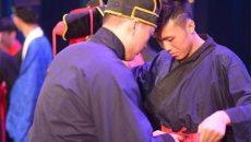 暨大举办中华文化大讲堂 学子穿汉服再现传统技艺