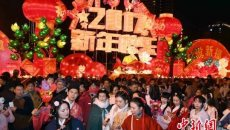 福建汉服青年与台湾传统手工艺人共赏花灯闹元宵