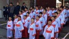 山西重现《礼记》成童礼,72名孩童着汉服告别童年