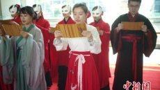南京大报恩寺遗址公园:中外汉服美女行古礼迎端午佳节