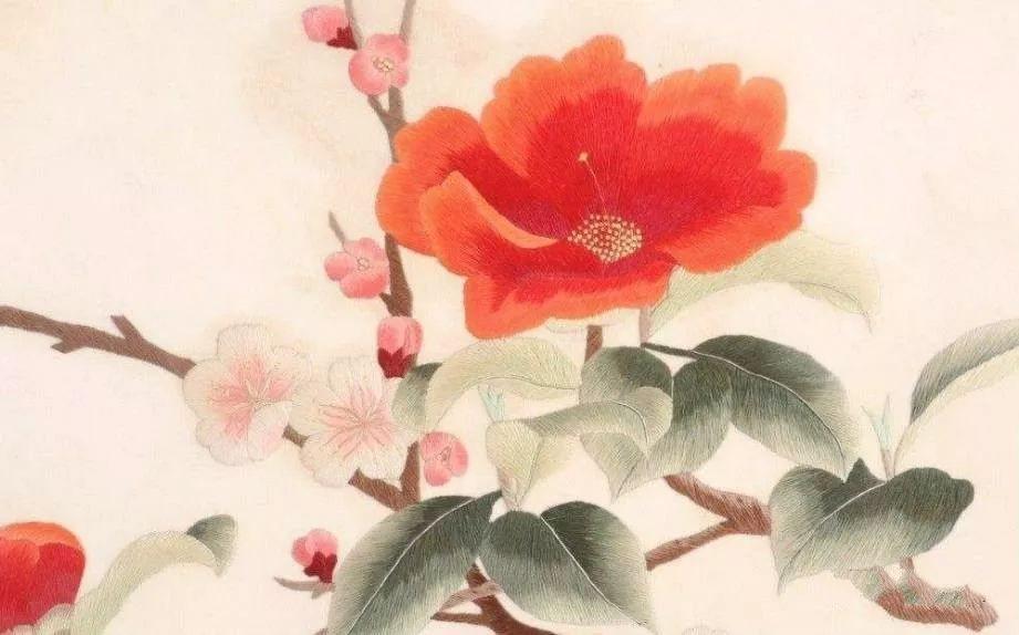 《梅花篆字》创作成刺绣版.