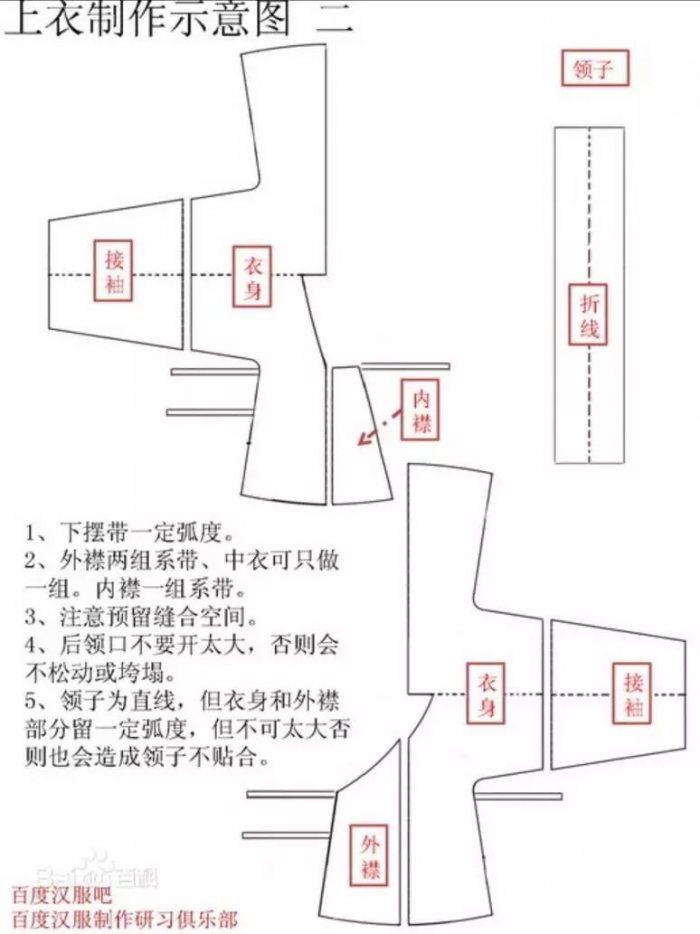 汉服交领襦裙制作图解-图片2