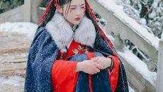 【汉服美图】雪景,旧梦