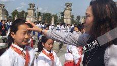 穿汉服、点朱砂、诵经典 重庆滨江实验学校学生在春天里与文化相约