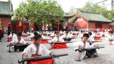 礼乐兴千载!郑州120名少年穿汉服奏古琴