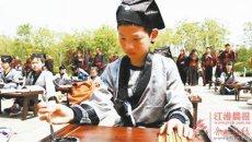 四十多个家庭体验汉服开笔礼  通过庄严仪式,孩子们对传统文化多了敬畏之心