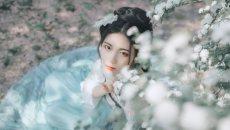 【汉服美图】花间语——青青子衿,悠悠我心