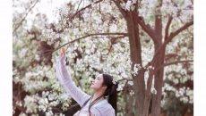 【汉服摄影】春路雨添花