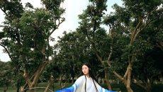 【汉服摄影】森林里一抹蓝色忧郁