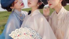 """有种穿法叫做""""汉洋折衷"""",明制汉服搭配法式礼帽,温柔绝美!"""