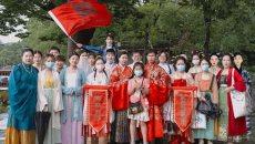 百位汉服达人游西湖,共同助力「杭州西湖日」,弘扬中华传统文化!