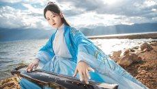 【大理华裳古风摄影】一组蓝色汉服照片分享,拍摄于苍山洱海边