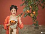 【汉服美图】红绿分佳果,遥怜霜落叶