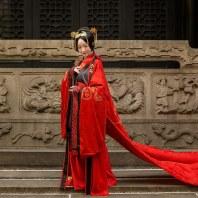 比翼鸟汉尚华莲传统汉服周制婚服女款中式婚礼正统服装量身定制款