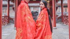 重回汉唐 周制婚礼汉式婚服上衣下裳 婚服礼服 套装