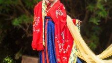 汉尚华莲 传统汉服 唐制凤凰印花婚服礼服 长相思