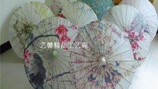汉服配饰 古典工艺伞DIY手绘画伞江南 油纸伞