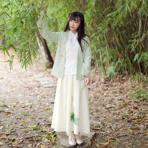 罗纹锦-江南素兮2017新款复古中国风女汉服小西装中式上衣开衫
